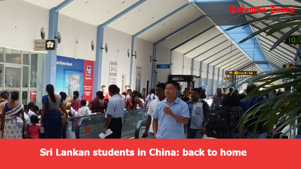 Sri Lankan student back home